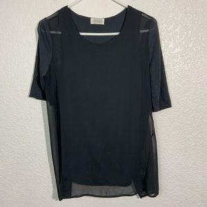 Zara Woman Blouse Blue Medium